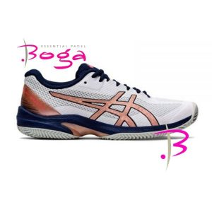 zapatillas asics court speed blanco rosa mujer