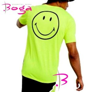 camiseta ellesse smiley chico neon