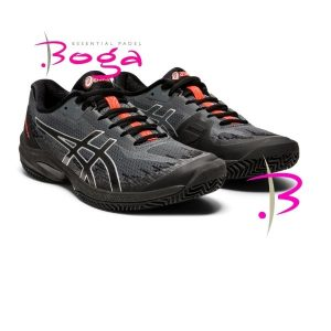 zapatilla asics court speed ff clay black sunrise red wpt