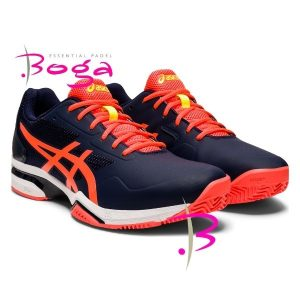zapatillas asics lima padel peacoat flash coral 2020
