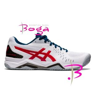 zapatilla asics challenger 12 clay classic red